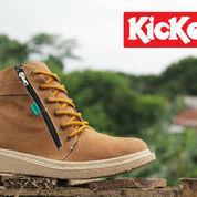 sepatu boot santai gaya main keren kece kuliah kickers femme tan (6016201) di Kab. Bandung