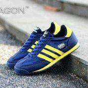 Sepatu casual pria murah adidas dragon biru navy list kuning (6017965) di Kab. Bandung