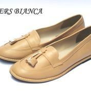 sepatu casual handmade loafers slip on simpel kickers flat slim krem (6018293) di Kab. Bandung