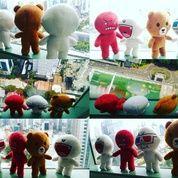 Boneka mainan anak karakter emoticon/emote icon aplikasi chat/messenger Line Si Brownie Bear Brown & Cony White SNI NEW murmer export quality (6086423) di Kota Jakarta Selatan