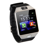 Jam Tangan Android Onix Cognos Smartwatch DZ09 - GSM Sim Card - Silver Hitam - Strap Karet