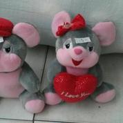 "Fancy mouse b/g 10"" inchi 26cm with love and flower (6583847) di Kota Jakarta Selatan"