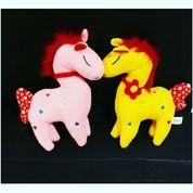 "Boneka Sweet Horse with rattle 11"" inchi kurleb 30cm (6682517) di Kota Jakarta Selatan"