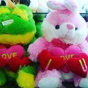 Boneka keropi dan boneka rabbit with 3 love ukuran L kurleb 40cm (6991853) di Kota Jakarta Selatan