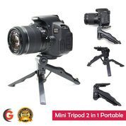 2 in 1 Portable Mini Folding Tripod for DSLR (7353957) di Kota Tangerang