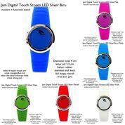 jam tangan digital touch screen LED lis silver fullset (7354269) di Kota Bekasi