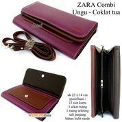 dompet selempang wanita clutch zaera combi ungu-coklattua (7354705) di Kota Bekasi