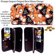 dompet murah import original bear hitam orange (7367151) di Kota Bekasi