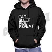 SWEATER HOODIE EAT SLEEP RIDE REPEAT (SABLON POLYFLEX)