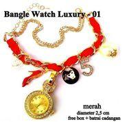 jam tangan aksesoris gelang rantai luxury 01 merah