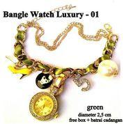 jam tangan aksesoris gelang rantai luxury 01 green