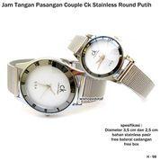 JAM TANGAN PASANGAN / COUPLE CK ROUNDED SAND WHITE (7391143) di Kota Bekasi
