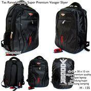 tas ransel laptop super premium vooger sliyer black (7391617) di Kota Bekasi