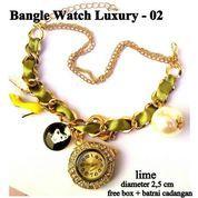 jam tangan aksesoris gelang rantai luxury 02 cream lime
