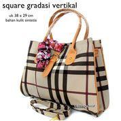 tas wanita kantor handbag berry casual gradasi grey (7391811) di Kota Bekasi