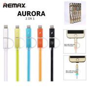 Kabel Remax Aurora 2in1 High Speed Charge and Data Cable (7583327) di Kota Jakarta Barat