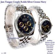 jam tangan couple rolex black crome navy (7662817) di Kota Jakarta Pusat