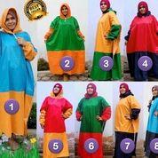 Jas Hujan Muslimah / Mantel Gamis Warna Kombinasi Harga Pabrik
