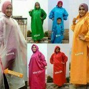 Mantel Gamis / Jas Hujan Muslimah Polos Harga Pabrik