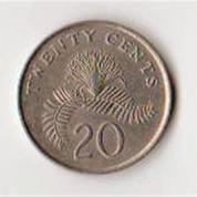 Koin 20 Cent Singapura Tahun 1985 (8219701) di Kota Yogyakarta