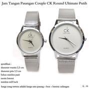 jam tangan pasangan pria / wanita couple ck round ultimate putih (8368227) di Kota Jakarta Pusat