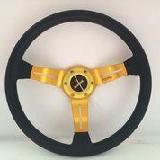 "Stir Racing Mobil Momo 14"" Inch Cekung Gold Drifting (8393623) di Kota Jakarta Barat"