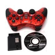TURBO GAME PAD WIRELESS USB SINGLE GETAR 3 IN 1 (PC+PS2+PS3)