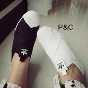 Adidas / Slip on / Black n white / Casual / Berkualitas