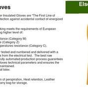 Sarung tangan tahan listrik 30kV,ELSEC Insulated Electrician glove (8727949) di Kota Jakarta Pusat