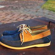 Sepatu Casual Pria cowok kerja jalan Boot formal~Jack Zapato Blue (8848167) di Kota Bandung