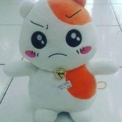 Boneka karakter hewan si pemakan biji bunga matahari si hamster tokoh serial film kartun jepang hamtaro face SNI