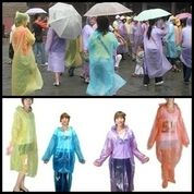 Jas Hujan Sekali Pakai Disposable Raincoat
