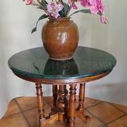meja batu pualam hijau antik (9153983) di Kota Tangerang Selatan