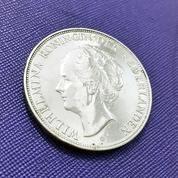 Koin 2,5 Gulden Belanda Th.1937 Queen Wilhelmina