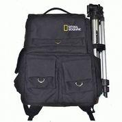 Tas Kamera DSLR Backpack Natgeo Kanvas Kode F Hitam