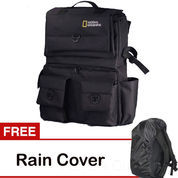 Universal Tas Kamera Backpack/Ransel National Geographic Kode D Black