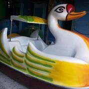 Perahu Dayung Mini Boat, Sepeda Air Water Bike Sport Fibreglass