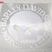 Sticker Decal Reflective Waterproof Skull Harley Logo (9966249) di Kota Bogor