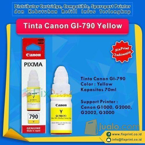 Tinta Canon GI-790 GI790 790 Yellow, Suport Printer Canon G1000 G2000 (10036211) di Kota Surabaya