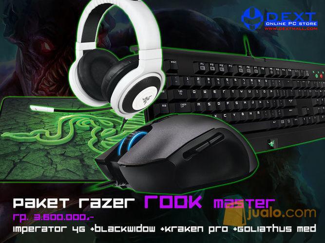 Paket Razer Rook Master (Mouse Imperator 4G+ Keyboard BW T2 Stealth+Mousepad Goliathus Med Control+Headset Kraken Pro Black) (10049129) di Kota Jakarta Barat