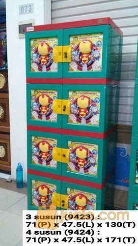 Lemari Plastik Kabinet Plastik Naiba Iron Man 3d 9424g 4susun Surabaya Jualo