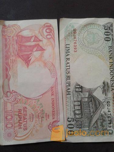 uang kuno seratus rupiah dan lima ratus rupiah tahun 92 (10312361) di Kota Jakarta Utara