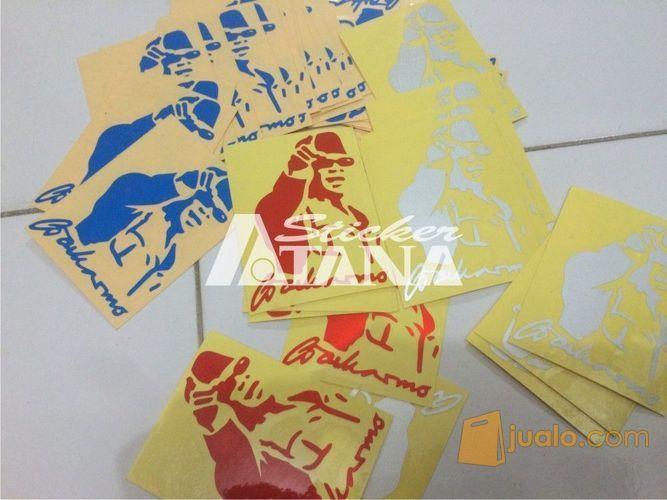 Sticker Cutting Scotlite Sketsa Ir Soekarno Nunjuk Pekalongan Jualo