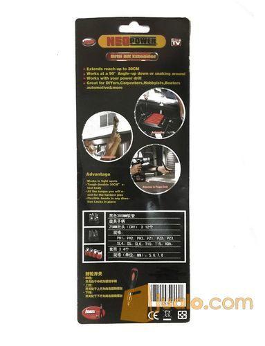18 pcs screwdriver set with drill bit extender / obeng (10501865) di Kota Jakarta Barat
