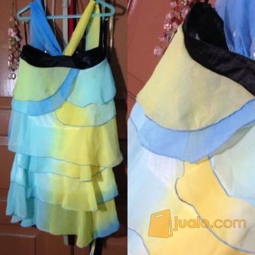 dress halter ombre morning glory import all size