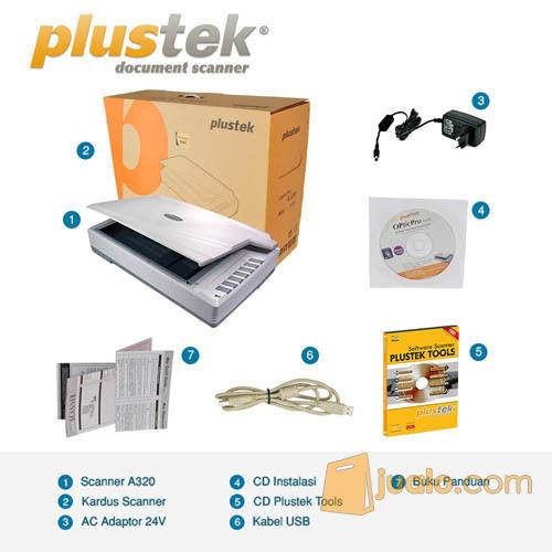 Scanner Plustek OpticPro A320L - A3+ (9 Lembar/Menit) (10637567) di Kota Jakarta Pusat
