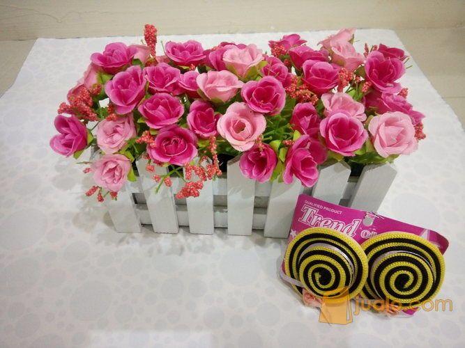 Bunga Plastik Artificial Rose Pink Tangerang Selatan Jualo