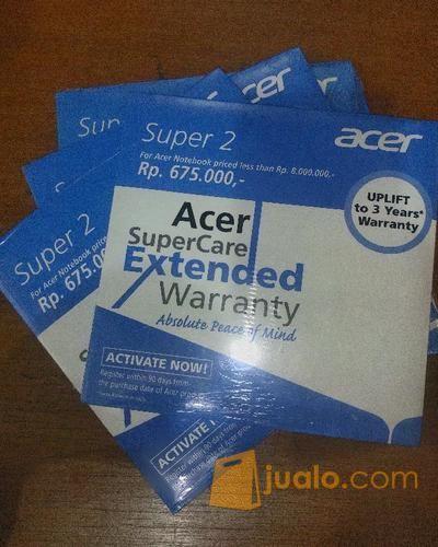 Acer Supercare Extended Warranty (11011313) di Kota Bandung
