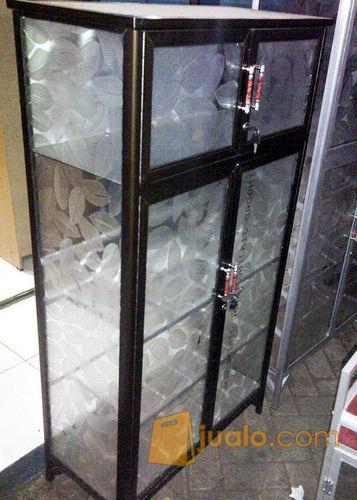 Rak Piring Aluminium 4 Pintu Frame Coklat Kaca Es 74 135 Kab Sidoarjo Jualo
