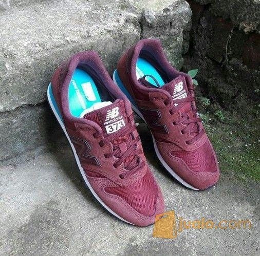 Sepatu New Balance M373 Maroon & Grey Original Bnib
